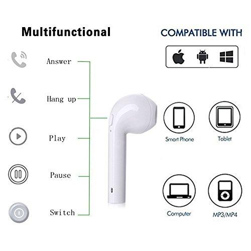 OCMCMO Auriculares Inalambricos Bluetooth 4.2 Manos libres Bluetooth Auriculares inalambricos Manos libres para iPhone X 8 8plus 7 7plus 6SSamsung S8 Samsung S9 in Ear con Cargador Portátil y Reducción de Ruido para iOS y Android