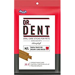 Drools Dr. Dent Oral Care Sticks (For Medium Breed Dog/ Large Breed Dog), 35g