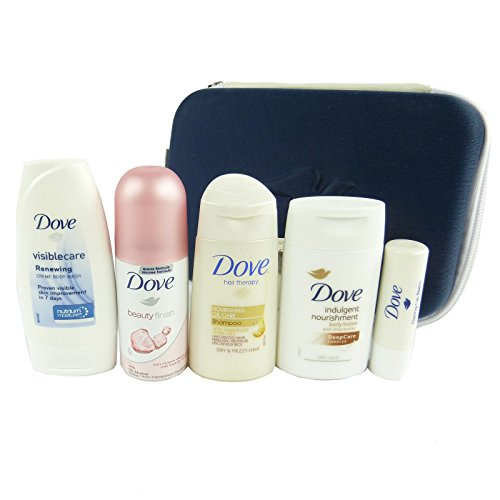 Dove Beauty Reise Set 6-tlg - Shampoo Dusch Gel Lippen Pflege Body Lotion Deo