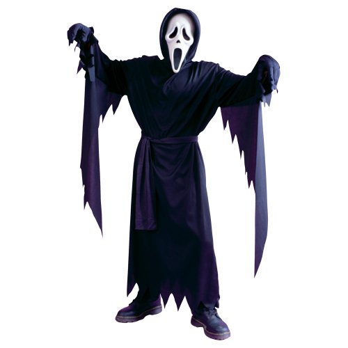 Kinder Klassische Ghost Gesicht Scream 4 Halloween Kostüm Bis zu 12 Jahre (Scream 4 Kostüm Kind)