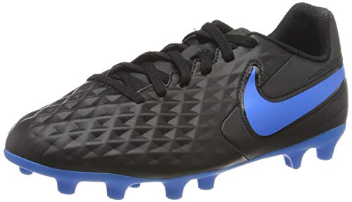 Nike Legend 8 Club FG/MG, Zapatillas de Fútbol para Niños, Negro (Black/Blue Hero 004), 37.5 EU