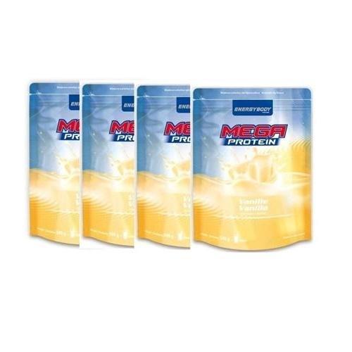 Energybody Mega Protein 80 4 x 500g Beutel 4er Pack Quark-Zitrone