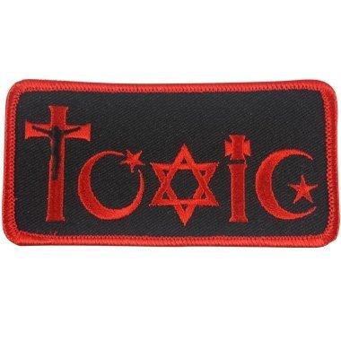 Giftig Religion bestickt Patch-10,2cm breit