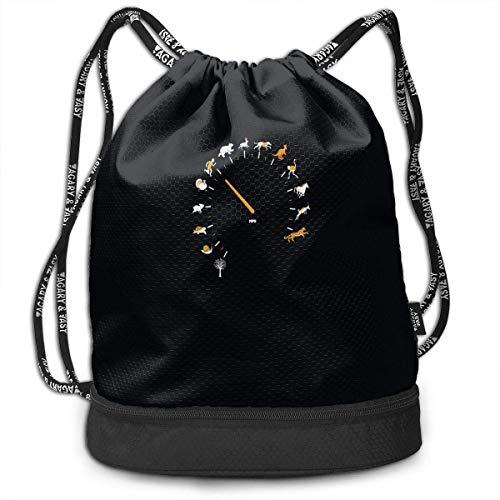 Juziwen Funny Animal Speed Gauge Large Drawstring Sport Backpack Sack Bag Sackpack
