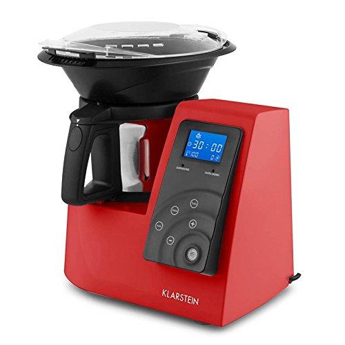 Klarstein Kitchen Hero • Robot da Cucina Multiuso • Mixer • Fino a 10.000 giri/min • Potenza 600 W in 9 livelli • 2 L • Programmi Automatici • Varietà di Accessori in Dotazione • Colore Bianco