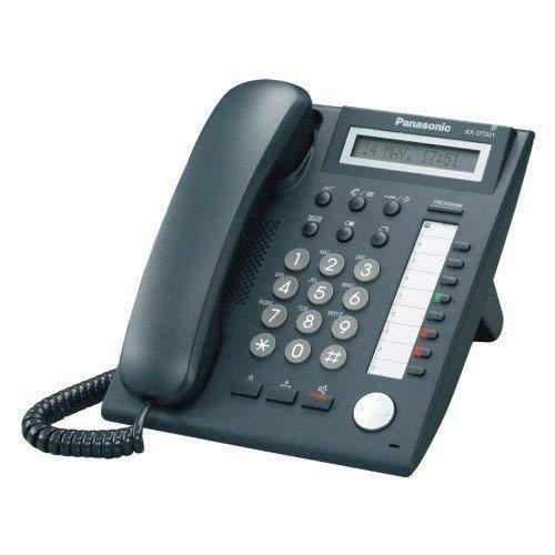 PANASONIC KX-DT321EB 1 LINE BACKLIT LCD PHONE - BLACK (Refurbished)
