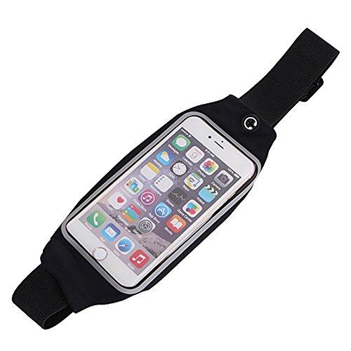 Fenrad® Sport Elastische Bauchtasche / Hüfttasche/ Lauftasche / Running Belts /Laufgürtel mit Kopfhörer Wagenheber - Passt Apple iPhone 4G 4S 5G 5S 5C 6 6S 4.7