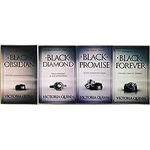 Série Obsidian tomes 1 à 4. (4 livres brochés) - Black Obsidian + Black Diamond + Black Promise + Black Forever.