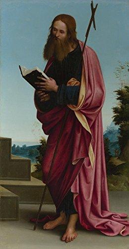 Das Museum Outlet-Lorenzo Costa-Saint Philip, gespannte Leinwand Galerie verpackt. 50,8x 71,1cm