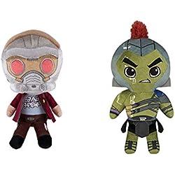 Juego de 2 figuras de peluche Funko: Marvel: Avengers Infinity War: Hulk y Starlord, 24 cm