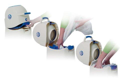 Geruchsdichter Windeleimer Diaper Champ medium silber – für normale Müllbeutel - 4