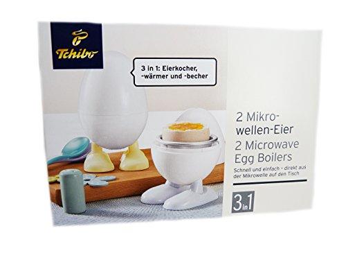 TCM Tchibo 2 Mikrowellen Eierkocher Eierwärmer Eierbecher