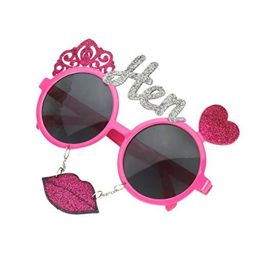 party hen brillen flash pink lip brillen girls night out hen party prop (pink) ()