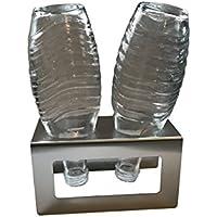 Abtropfhalter aus Edelstahl für z.B. Sodastream Crystal / Source / Easy / Cool Flaschen Flaschenhalter