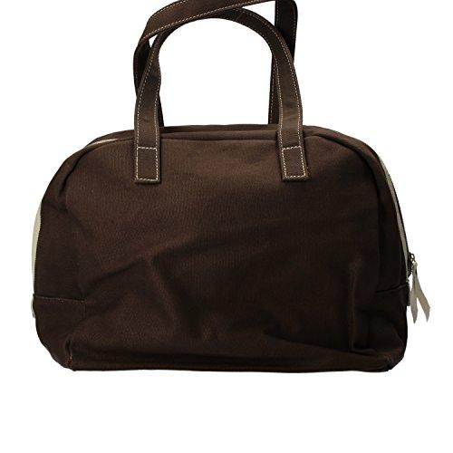 SUPERGA borsa donna marrone rosso verde tela Marrone