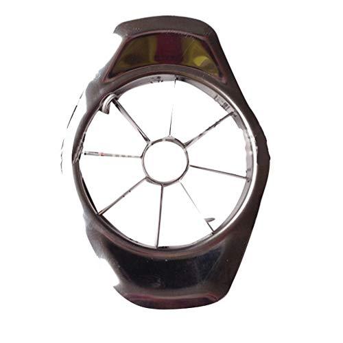 Timlatte Edelstahl-Frucht-Cutter Multifunktions-Gemüsewassermelone Birne Slicer Küchenzubehör 1# 9cm(Diameter)