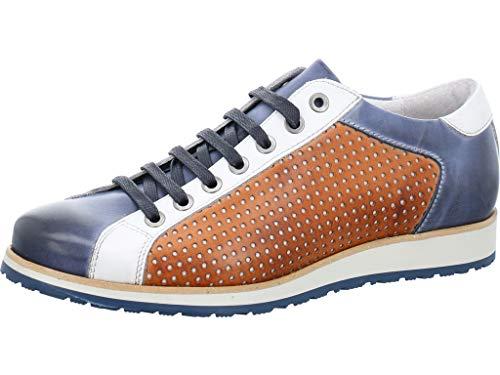 Nicola Benson Eleganter Sneaker Größe 45 EU Blau (blau-Kombi) (Benson Sneaker)