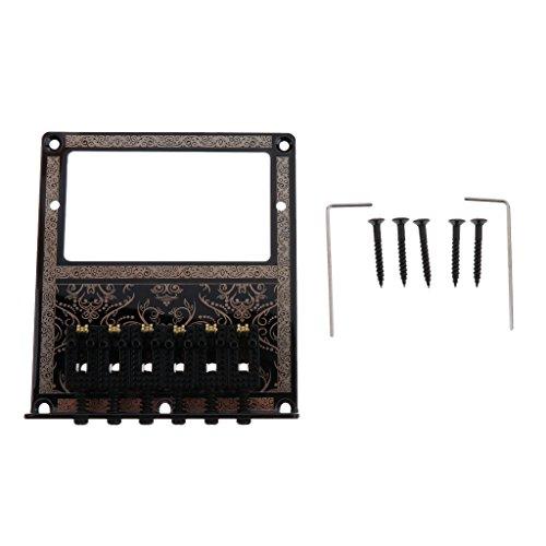 MagiDeal Schwarz Humbucker Gitarren-Brücke w / Roll-Sattel für Tele Gitarre -
