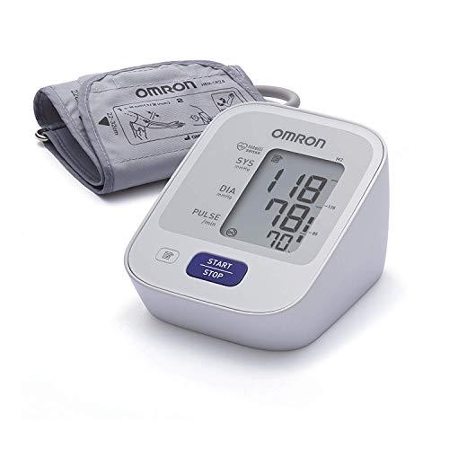 OMRON Healthcare M2 Misuratore di Pressione Sanguigna e Polso da Braccio, Bracciale 22-32 cm, Schermo Grande e Leggibile, indicatore di irregolaritá del battito cardiaco