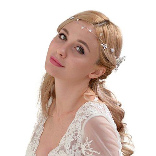 14c3d983f74c0b TOPQUEEN hopewey Blume Haarschmuck Hochzeit Vintage Braut Haar Kamm  haarclips Blatt Haar Accessoires.
