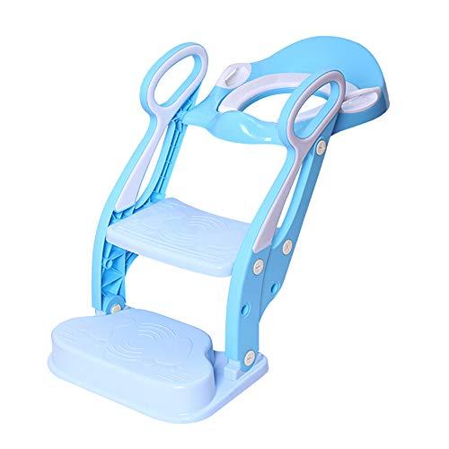 Toilette pour Enfants, éChelle De Toilette pour BéBé. SièGe De Formation RéGlable en Pot pour Enfant. Coussin Confortable en PU.