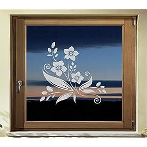 Folie Fenster Tattoo Aufkleber, kein Sichtschutz, Fensterfolie Glasdekor Deko Window wasserfest selbstklebende Folie GD40