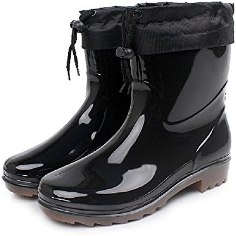 Alger Hombres Lluvia Zapatos Caliente Antideslizante Resistente al agua Lluvia Botas, 43-d