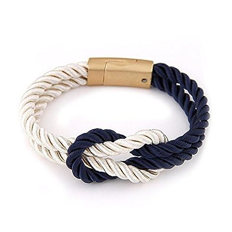 PANDA Bracelet tressé Hope Love confortable doux mode homme femme corde charme cadeau
