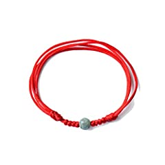 Idea Regalo - YDMSGSB Smeraldo antico cavigliera femmina rosso corda catena maschile, circonferenza sezione B 23 cm