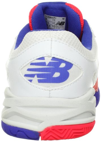 New Balance - Girls 996 Tennis / Court Shoes White with Hot Pink & Blue