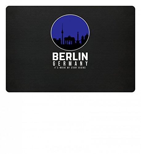 Berlin Germany – Deutschland – That's Where My Story Begins – Skyline Party Design – Fußmatte