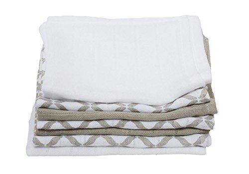 Motherhood Baby Waschtücher aus Baumwoll-Musselin, Baby Waschlappen - (7 Stück), 30x30 cm, Öko-Tex Standard 100, Beige Classics 2017