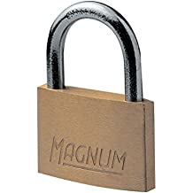 Magnum CAD30 Padlock with Steel Arc, Brass, 30 mm