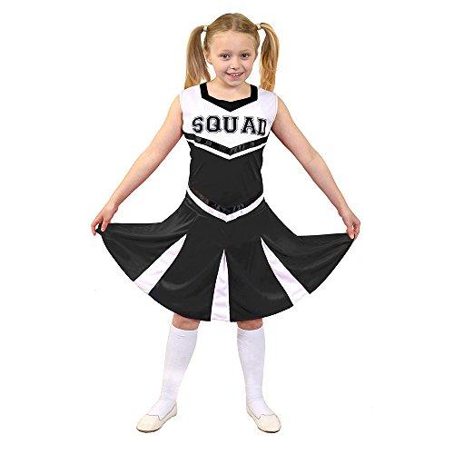 ILOVEFANCYDRESS I Love Fancy Dress ilfd7094X L Kinder Cheerleader Fancy Kleid Kostüm mit Squad Print und Faltenrock (Cheerleader Kostüm Fancy Dress)