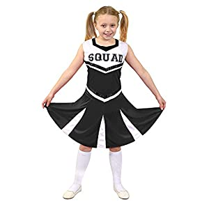 I Love Fancy Dress. ilfd7094m infantil Disfraz de animadora con Squad ImpresióN y falda (Tamaño Mediano)