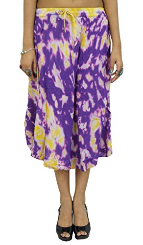 Resort tragen Rayon Gypsy Rock Long Maxi Beach Sommer Damen Bekleidung (Länge Voller Wickelrock Hippie)