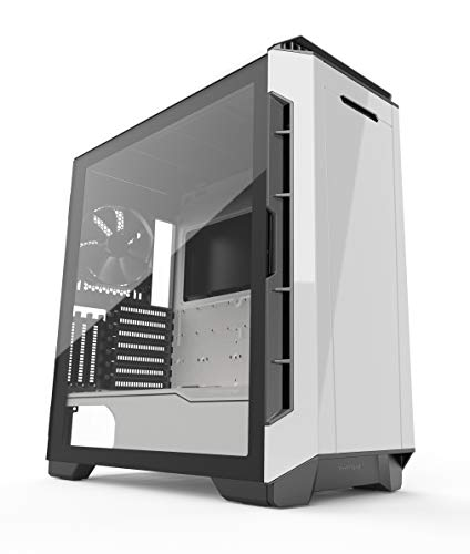 Phanteks Eclipse P600S Hybrid Silent and Performance ATX Chassis gehärtetes Glas, Gewebefilter, Dual System Support, PWM Hub, Schalldämpfende Panels, Glacier White -