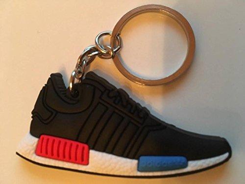 Preisvergleich Produktbild Adidas NMD Schlüsselanhänger Schwarz Blau Sneaker Keychain