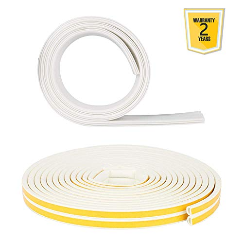 BELEY Selbstklebende Schalldicht Türdichtung Kit für Türen, 4.5*100cm Tür Türdichtung Dichtungsstreifen Zugluftstopper + 10m Türen D-Profil Dichtungsband (Door Garage Seal Kit Bottom)