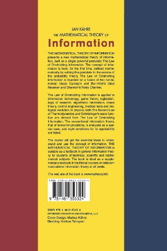 The Mathematical Theory of Information (The Springer International Series in Engineering and Computer Science)