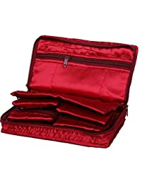 Kuber Industries Maroon Satin Jewellery Pouch