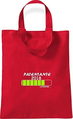 ShirtInStyle kleine Baumwolltasche PATENTANTE 2018 Loading Geburt Geschenk Rot