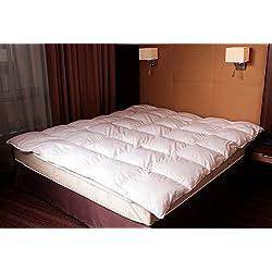 Mayaadi-Home MA74 Extra Warm Daunendecke Bettdecke Winter Decke 15% Daunen Federn 135x200cm 1600 Gr. Füllung 100% Natur Steppbett Steppdecke