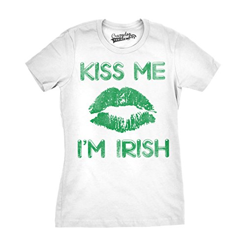 Crazy Dog Tshirts - Womens Green Lips Cute -