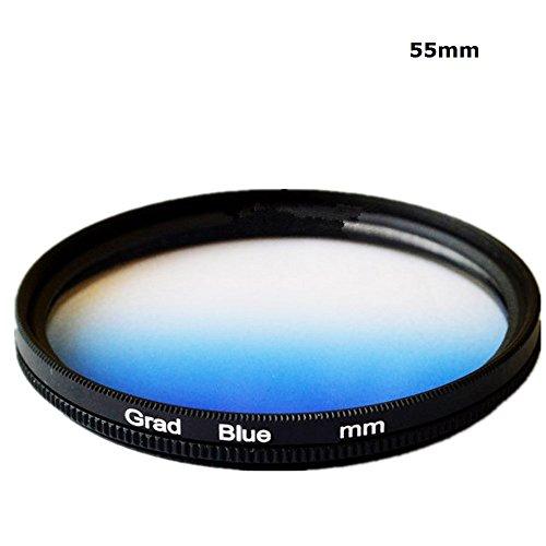 55mm couleur dégradé bleu couleur progressif Filtre Objectif Filtre pour Canon Nikon Sony Caméscope Appareil photo reflex numérique Objectif