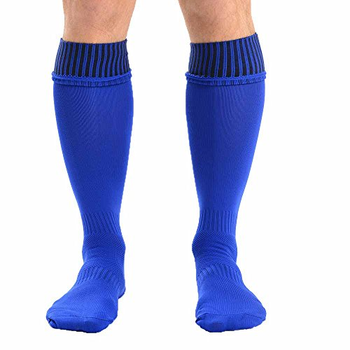 Mens Plain Coloured Knee High Football Sports Socks in 6 Colours UK Size 6-11