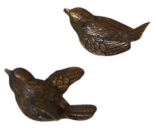 Zwei Vögel aus Bronze