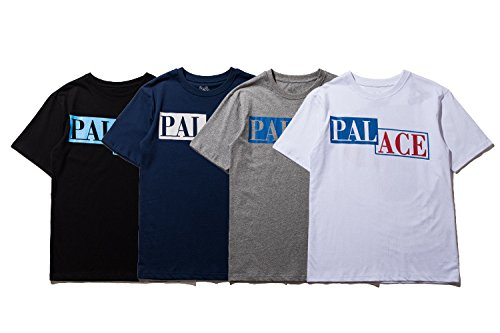 BOMOVO Herren PALACE T-Shirt Basic - Gerade Weiß