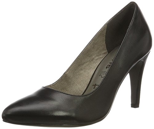 Tamaris Damen 22473 Pumps, Schwarz (Black Leather), 41 EU - Leder Pumps