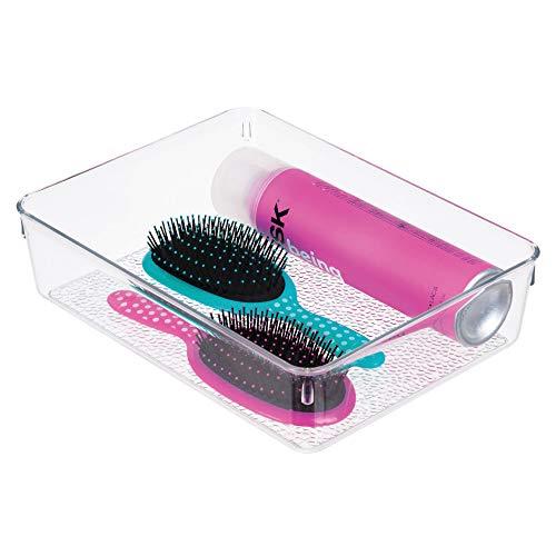 InterDesign Rain Aufbewahrungsbox für Make-up und Co., große Schubladenbox aus Kunststoff,...